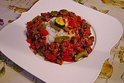 Reis-Hackfleischpfanne mit Paprika 0