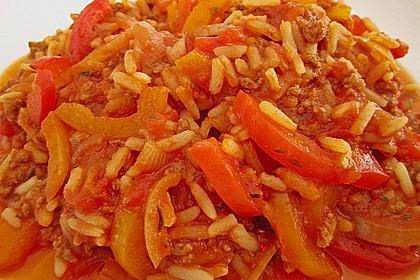 Reis-Hackfleischpfanne mit Paprika 7