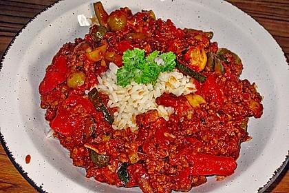 Reis-Hackfleischpfanne mit Paprika 6