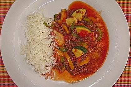 Reis-Hackfleischpfanne mit Paprika 5