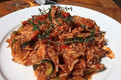 Reis-Hackfleischpfanne mit Paprika