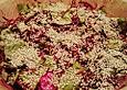 Salat mit Rote Bete, Sesam und Feta