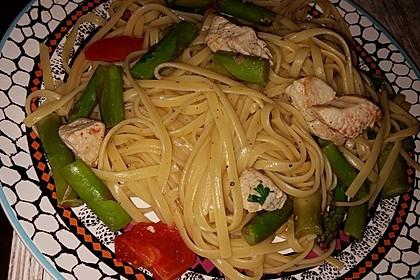 Spaghetti mit grünem Spargel und Putenbrustfilet 2