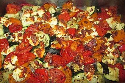 Mediterranes Gemüse mit Feta