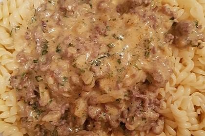 Hackfleisch-Schafskäse-Nudelauflauf 2
