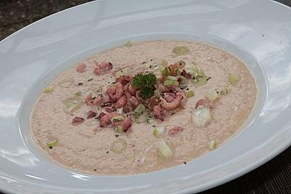 Steckrüben-Rahmsuppe mit Krabben 1