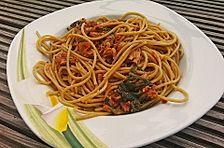 Spaghetti mit Thunfisch-Bolognese
