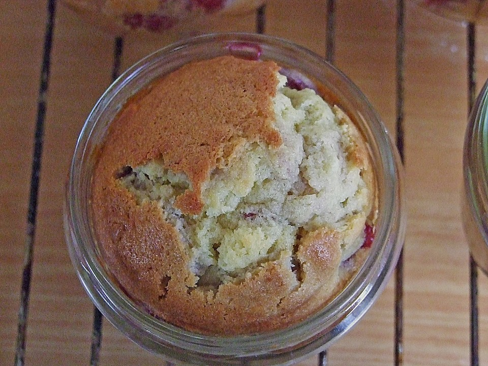 Kirsch kuchen im weckglas
