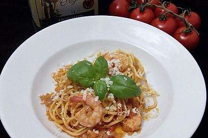 Spaghetti aglio olio e scampi 2