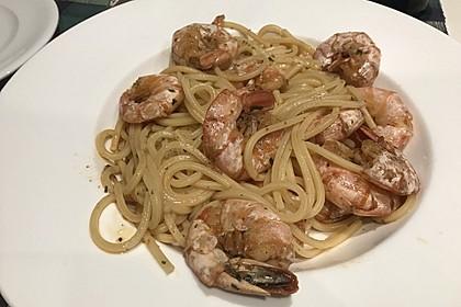 Spaghetti aglio olio e scampi 36