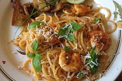 Spaghetti aglio olio e scampi 3