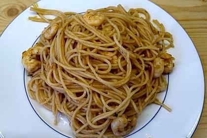 Spaghetti aglio olio e scampi 37