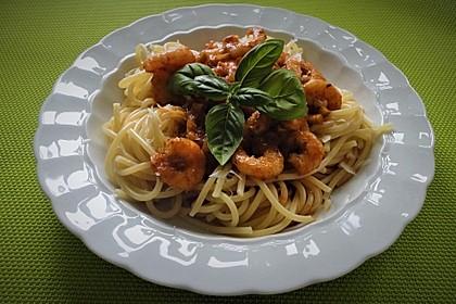Spaghetti aglio olio e scampi 6