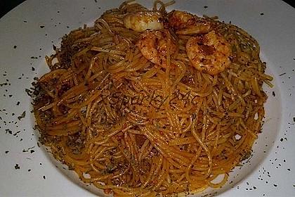 Spaghetti aglio olio e scampi 29