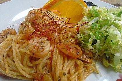 Spaghetti aglio olio e scampi 0