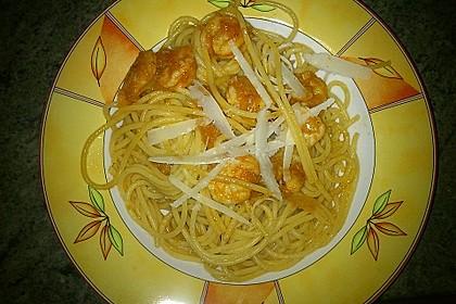 Spaghetti aglio olio e scampi 10