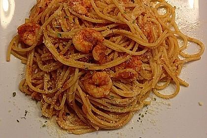 Spaghetti aglio olio e scampi 18
