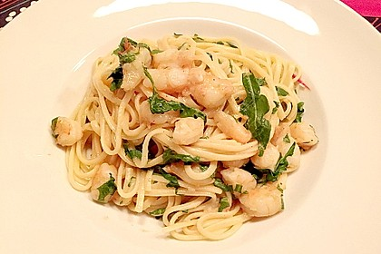 Spaghetti aglio olio e scampi 12