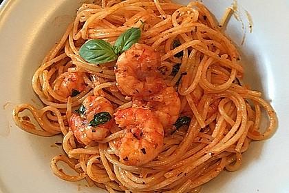 Spaghetti aglio olio e scampi 23