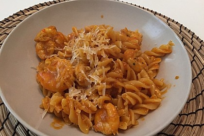 Spaghetti aglio olio e scampi 35