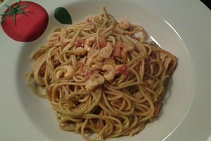 Spaghetti aglio olio e scampi 25