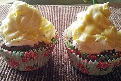 Schokoladen-Cupcakes mit gebranntem Icing 2