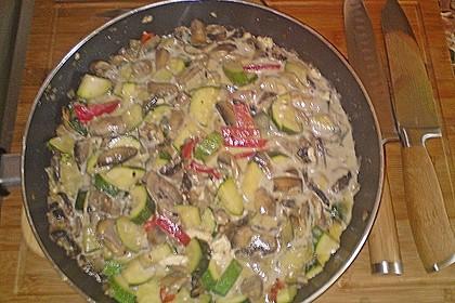 Zucchini-Champignon-Pfanne mit Feta 3