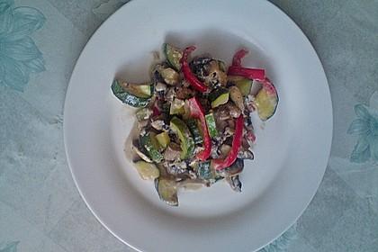 Zucchini-Champignon-Pfanne mit Feta 4