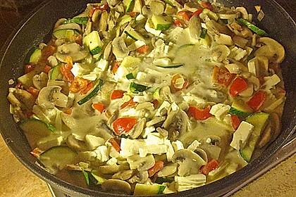 Zucchini-Champignon-Pfanne mit Feta 1