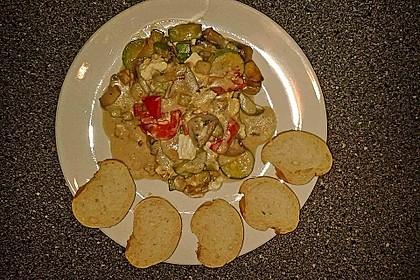 Zucchini-Champignon-Pfanne mit Feta 2