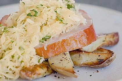 Sauerkraut mit Kasseler
