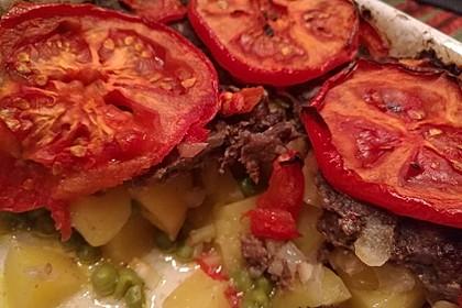 Arabischer Hack-Kartoffel-Tomaten-Auflauf 6