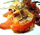 Arabischer Hack-Kartoffel-Tomaten-Auflauf