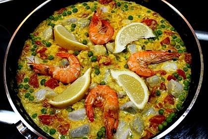Cremige Fisch-Paella