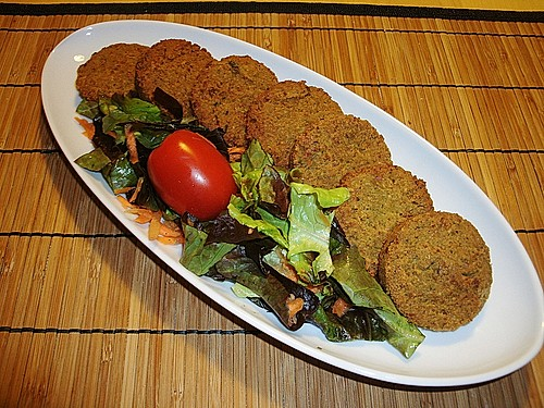 falafel patties with yogurt tahini sauce recipe yummly baked falafel ...