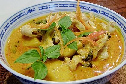 Südthailändisches Curry mit Garnelen und Ananas 0