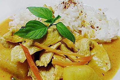 Südthailändisches Curry mit Garnelen und Ananas 4