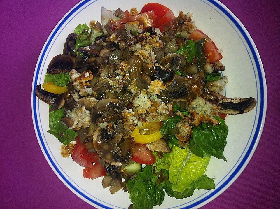 gemischter salat mit warmen champignons und honig senf vinaigrette von mary jane24. Black Bedroom Furniture Sets. Home Design Ideas