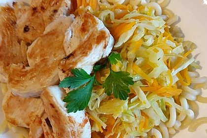 Spitzkohl-Nudelpfanne mit Kokosmilch 7