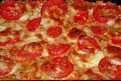 Nudelauflauf mit Erbsen, Tomaten und Mozzarella 4