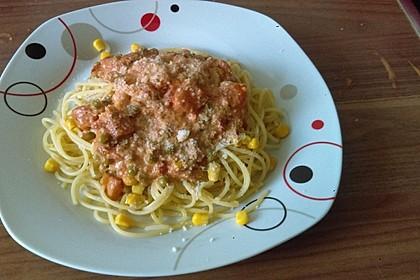 Nudelauflauf mit Erbsen, Tomaten und Mozzarella 3