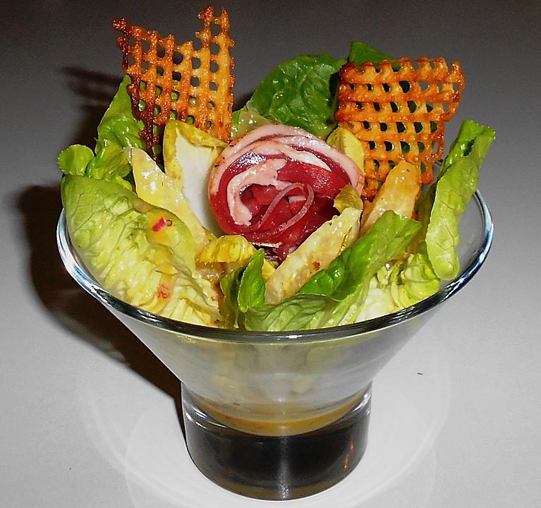 romana chicoree salat mit orangenfilets und kartoffel knusper rezept mit bild. Black Bedroom Furniture Sets. Home Design Ideas