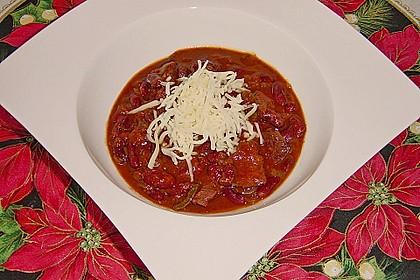 Chili con Carne  mit Fleisch und getrockneten Bohnen