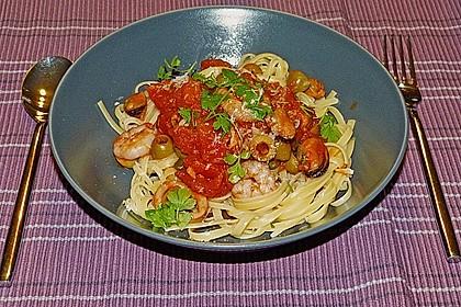 spaghetti mit meeresfr chten rezept mit bild von kochwieselchen. Black Bedroom Furniture Sets. Home Design Ideas