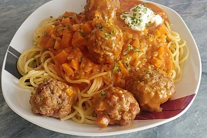 Albertos Spaghetti mit Meatballs 13