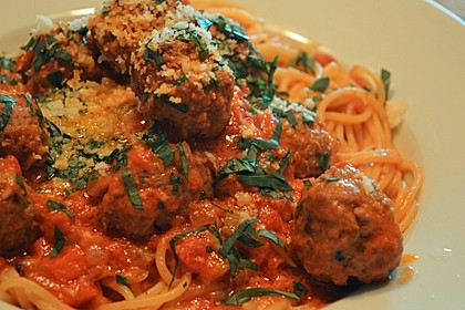 Albertos Spaghetti mit Meatballs 5