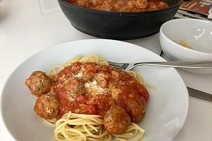 Albertos Spaghetti mit Meatballs 7