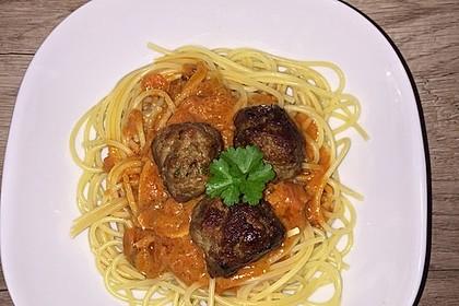 Albertos Spaghetti mit Meatballs 10