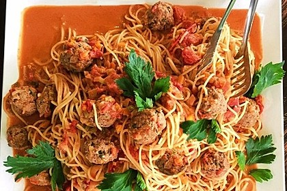 Albertos Spaghetti mit Meatballs 2