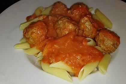 Albertos Spaghetti mit Meatballs 12